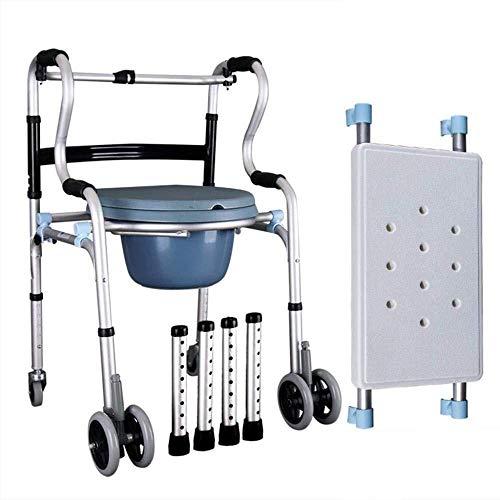 Rollatoren staand instelbare hoogte Walker Folding toiletstoel, boven WC en kopfendecommode lopen loophulp lichtgewicht rollator opvouwbaar