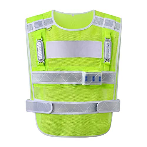 Veiligheid Veiligheid Vesten Verkeerbeveiliging Fluorescent Vest Insulation Sanitation Cleaning Garden Patrol Uniform LED knippert Construction Site Multifunctionele XMJ