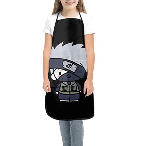 Na-Ru-To Tablier pour enfants pour la cuisine, la pâtisserie, le jardinage, les arts et les travaux manuels pour enfants de 3 à 8 ans - Noir - petit