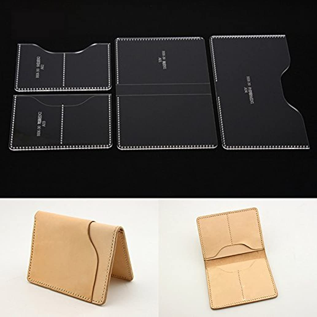NW Certificates Case Acrylic Template Leather Pattern Acrylic Leather Pattern Leather Templates for Wallet
