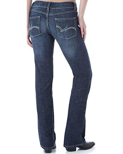 Wrangler Women's Western Stretch Boot Cut Jean, Navy, 3 Long