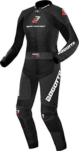 Bogotto Losail 2-Teiler Damen Motorrad Lederkombi Schwarz 34
