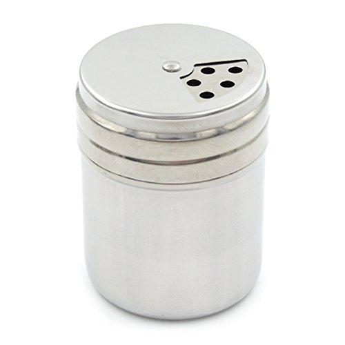 Roestvrijstalen shaker | zoutstrooier | kruidenhouder voor keuken en specerijen | fles met draaibaar deksel voor het bewaren van suiker, chocolade, meel, chilipoeder en peper Single Leaves