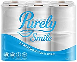 Purely Smile 3ply Soft Toilet Roll | Pack of 12 | PS1125 (Navigator Amoos 08NAV312) | FSC Certified