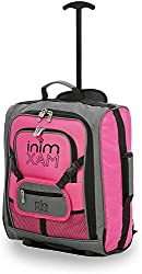 MiniMax Kids Luggage Trolley Suitcase with Backpack and Bag for Toys / Dolls / Teddy Bear (Pink)