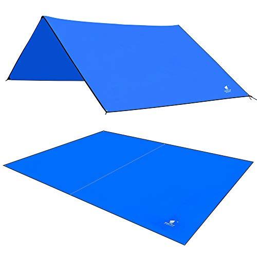 Lona de tela para suelo de tienda de campaña Oxford, de Geertop, resistente al agua, para 4-5 personas, (3 x 2,2 m); para hacer pícnics cuando hagas camping o senderismo, Unisex mujer Infantil hombre, azul