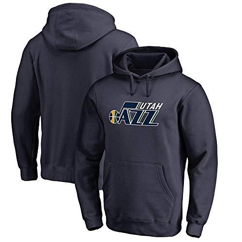 FANS LOVE Sudadera con Capucha para Hombre NBA Jazz Guard Sports Fan Jersey Hecho para Uso Diario Y Camisetas De Baloncesto Black blue-2-S