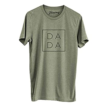 Inkopious DADA T-Shirt - First Time Father s Day Present - Unisex Crewneck Small Olive