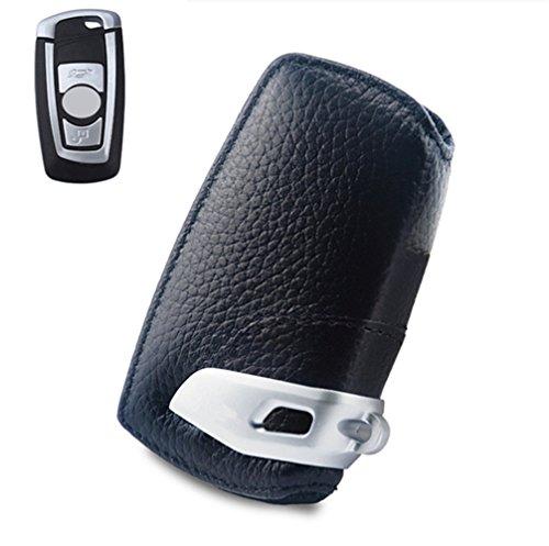 Happyit Auto Echt Lederen Smart Key Cover Case Voor BMW F10 F20 F30 NIEUW 1 2 3 4 5 6 7 Serie X3 X4 320I 116I 328I 530I Afstandsbediening Accessoires Zwart