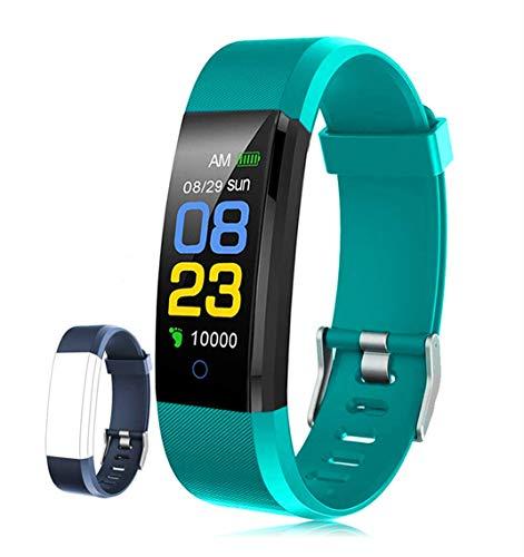 FX-FISH Pulsera Actividad Inteligente Pantalla Color Reloj con Pulsómetro Impermeable Monitor de Ritmo Cardíaco Podómetro Deportiva Fitness Tracker para Mujer Hombre Niños