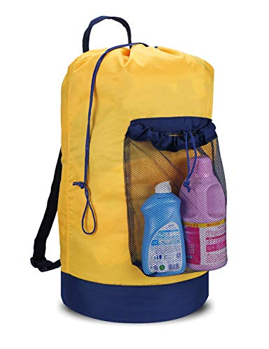 Product Image of the Dalykate Backpack Laundry Bag, Laundry Backpack with Shoulder Straps and Mesh Pocket Durable Nylon Backpack Clothes Hamper Bag with Drawstring Closure for College, Travel, Laundromat, Apartment