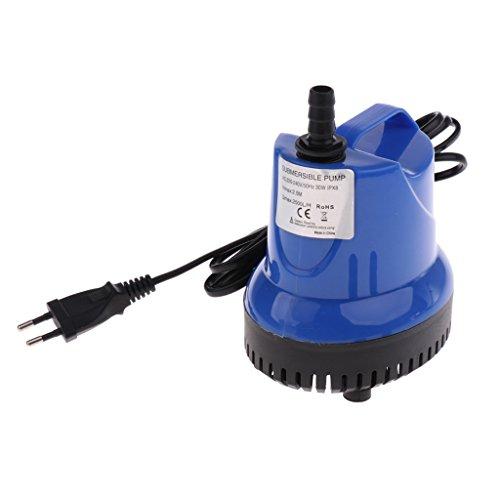 perfk 1800L/H Tauchpumpe Wasserpumpe Filterpumpe für Teich Brunnen Aquarium Fisch Tank, inkl. 13mm und 19mm Auslaufdüse