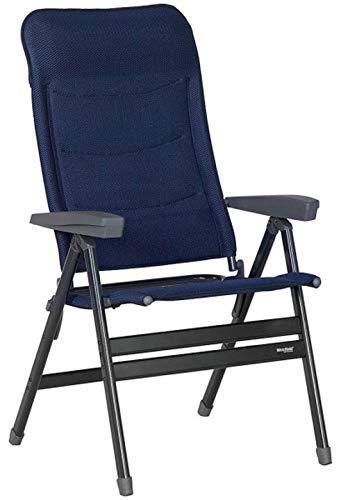 2 STÜCK - DER STABIELSTE Seiner Art - XL 70 cm BREITER KLAPPSTUHL - Westfield Outdoors Stuhl Advancer XL Dark Blue - mit NETZABLAGE -