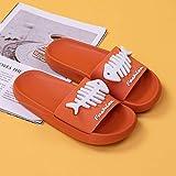 XZDNYDHGX Zapatillas De Estar por Casa Ultraligera De Hombre Y Mujer,Summer Home Indoor Fish Bone Sandalias Zapatillas Mujer, Zapatos Hogar Baño Casual Hombres Naranja EU 39-40