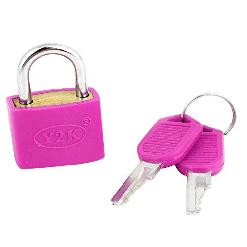 New Lon0167 Cabinet Luggage Featured Cabinet Suitcase Drawer Reliable Efficacy Security Fuchsia Metal Lock Padlock w 2 Keys(id:6be 45 4b 51c)
