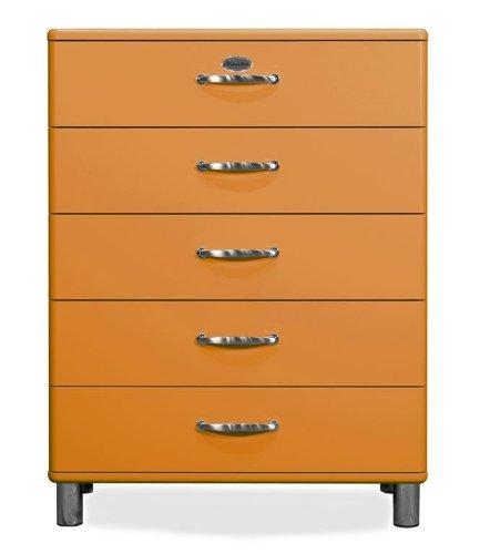 TENZO Kommode Malibu 5295 mit 5 Schubladen in orange Sideboard
