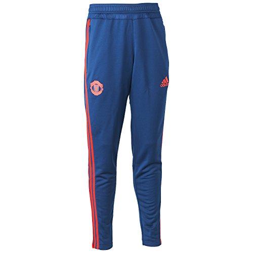 adidas Herren Manchester United Trainingshose-blau, Dkblue/Scarle, XS