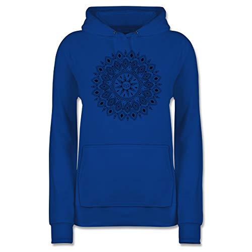 Kunst & Kreativität - Boho Mandala Yoga Sketch - S - Royalblau - Yoga Bekleidung Frauen - JH001F - Damen Hoodie und Kapuzenpullover für Frauen