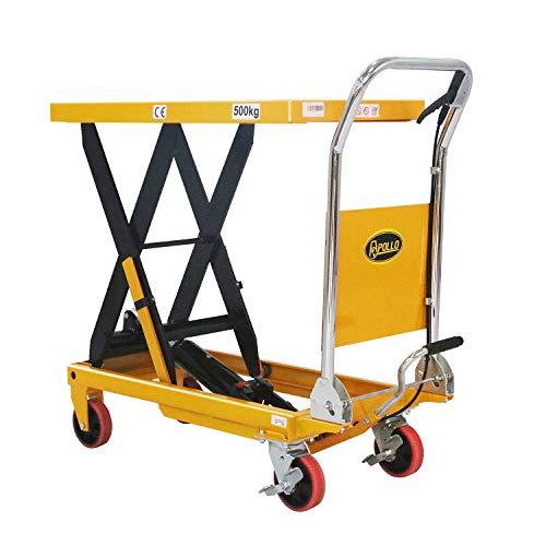 "APOLLOLIFT Single Scissor Hydraulic Lift Table/Cart 1100lbs Capacity 35.4"" Lifting Height"