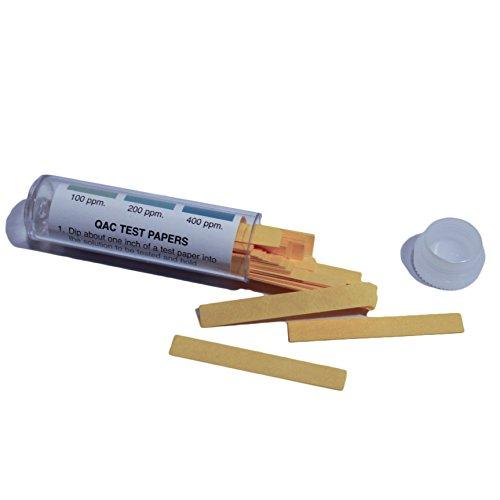 "100 2"" Paper Quat QAC (Quaternary Ammonium) Test Strips in Vial (100-400 PPM)"