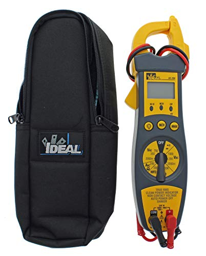 IDEAL INDUSTRIES INC. 61-704 200 Amp Clamp Meter with TRMS, NCV, Shaker, CP, Backlight, Voltage Indicator, CATIII 1000v, Yellow