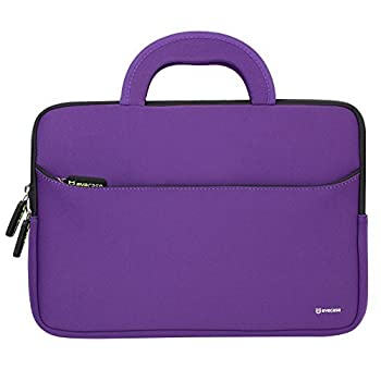 Evecase HP Stream 11 UltraPortable Handle Carrying Portfolio Neoprene Sleeve Case Bag for HP Stream 11 11-d010nr Notebook 11.6 inch Laptop - Purple