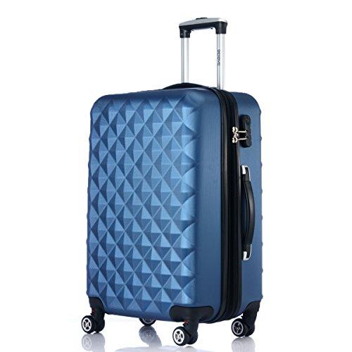 Rotelle per 2066Custodia rigida trolley valigia da viaggio bagaglio valigia da viaggio M, L, XL di set in 12colori, Blau, XL