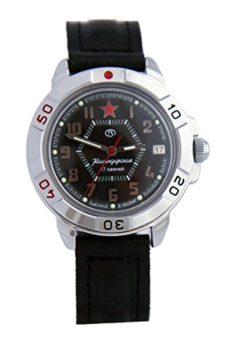 Vostok KOMANDIRSKIE reloj militar ruso Red Star 2414/431744