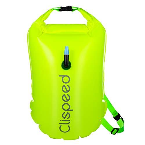 CLISPEED Schwimmboje, 18L Aufblasbare wasserdichte Packsäcke für Open Water Swimmers Triathletes Snorkelers Surfers