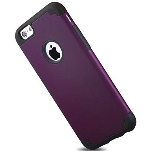 Ailun Phone Case Compatible iPhone 6s Plus iPhone 6 Plus Soft Interior Silicone Bumper Hard Shell PC Back Shock Absorption Skid Proof Anti Scratch Hybrid Dual Layer Cover Purple