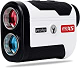 Profey Golf Rangefinder, 1500 Yards Laser Range Finder with Slope, Flag-Lock with Vibration, Continuous Scan, 6X Magnification, Free Battery