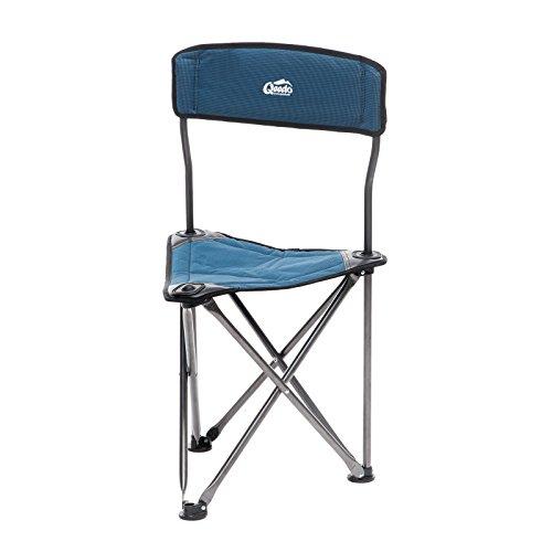 Qeedo Campinghocker Johnny Tripod, Dreibein-Hocker (3-Bein), 130 Kg mit Rückenlehne - blau