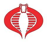GI Joe American Hero Cartoon Cobra Logo Stickers Symbol 5.5' Decorative DIE Cut Decal for Cars Tablets LAPTOPS Skateboard - RED