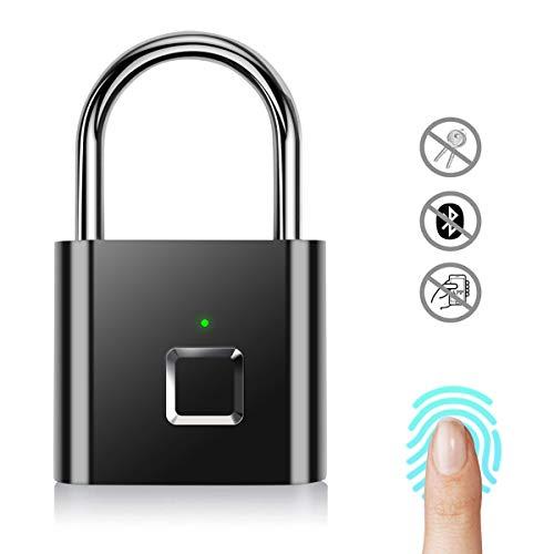 Smart fingerprint lock Door lock,Lucchetto Per Impronte Digitali Portatile Nessuna Password sicurezza Impermeabile Keyless Lucchetto Interno/esterno Per Porte