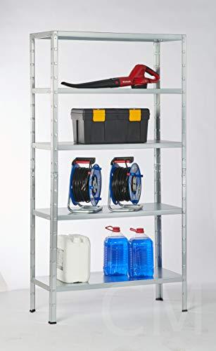 Schulte Regalwelt Lagerregal mit 5 Fachböden, 190x100x40cm Regalsystem, Steckregal mit einfacher Montage ohne Verschrauben, Traglast je Boden bis zu 65 Kg (bis zu 325 Kg Gesamttraglast)