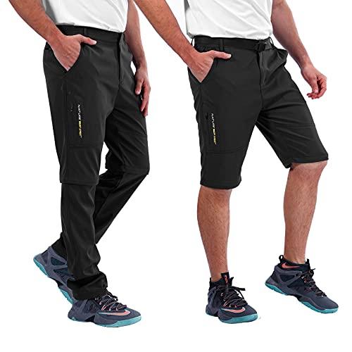 Amissz Pantaloni Trekking Uomo Primavera Estate Outdoor Pantalone da Lavoro, Traspirante Funzionali Arrampicata Softshell Pantaloni Escursionismo Caldo All aperto