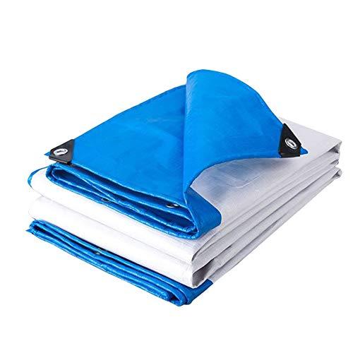 QIANGDA Planen Abdeckhaube Schutzplane Wasserdicht Mit Ösen Sonnenschirm Leicht Schutzabdeckung Für Den Garten Draussen, 170g/m² (Farbe : Blau, größe : 3.8x5.8m)