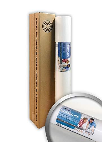 NORMVLIES 150 g Renoviervlies glatte überstreichbare Vliestapete weiß Glattvlies Malervlies | 18,75 m2 25 Meter Rolle
