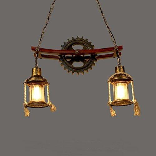 BWLZSP País Americano Retro Loft Resina Antigua lámpara de la lámpara de la Personalidad de la Barra de la lámpara Rejilla Gamma Cafe Chandeliers lu127435py