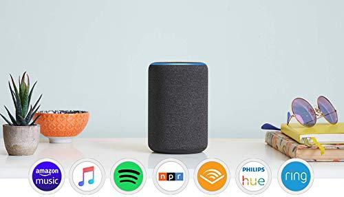 Certified Refurbished Echo (3rd Gen)- Smart speaker with Alexa- Charcoal