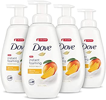 4-Count Dove Foaming Mango Butter Body Wash for All Skin Types