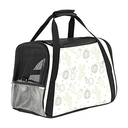 Lindo portador de viaje para mascotas con 3 puertas abiertas de malla y correa ajustable para el hombro, bolso portátil para cachorros pequeños perros gatos bolsa de viaje