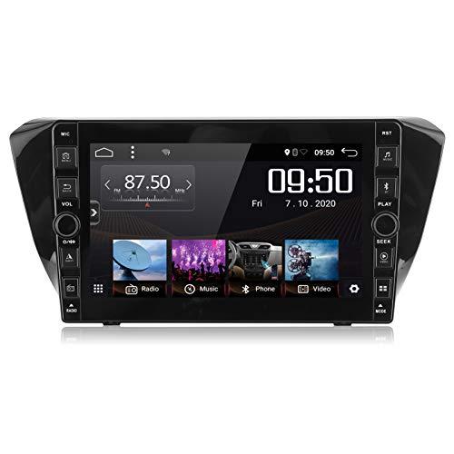 Yctze 2 + 32G Sistema de navegación GPS, 9in 1080P HD Navegación GPS para automóvil Bluetooth 5.0 Botón de audio y video para Superb 2016-2019