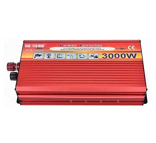 ZLZH Inversor de Potencia de Onda sinusoidal Pura 1500W / 3000W Pico DC 12V 24 a 110V 220V Convertidor de CA con 2 zócalo Universal, para Dispositivo de Coche/computadora portátil/cámara/teléfono cel
