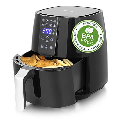 Emerio AF-126668 digitaler SmartFryer, AirFryer, Heißluftfritteuse, Frittieren mit heißer Luft ohne zusätzliches Öl, XL, 3.8 Liter Volumen, Cool Touch, BPA frei, schnelle Aufheizung, 1450 Watt