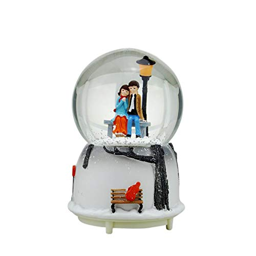 Caja de música de nieve con bola de cristal Globo de nieve...