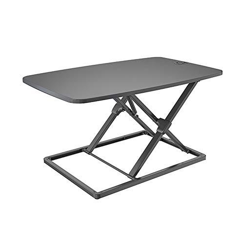 KPOON Stehpult Converter Büroarbeitsstation Home Office Stehen Computer-Hubtisch beweglichen Tisch Laptop Riser (Color : Black, Size : 79.5X50X4-41cm)