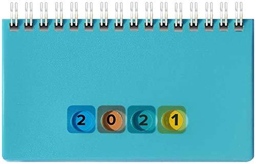 Schreibtischkal. Mini Protect 2021 14,5x9cm, 128 S, 1 Wo.=2 S. quer (blau, A6)