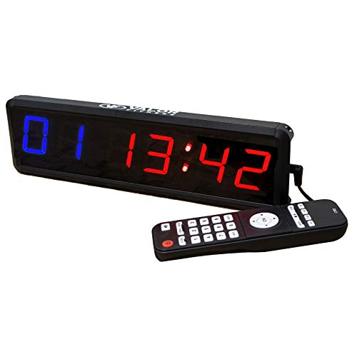 Valor Fitness ST-Mini Mini Digital Workout Timer with Remote Control for Interval Training in a Garage or Home Gym