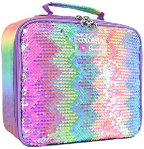 DOLAZAN Kids Lunch Bag Insulated Lunch box bag with Handle for Girls Boys Women Men Sequin Multicolor product image